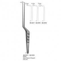 Forceps for Graspig Tissue, Tumers, Bayonet Shapes