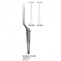 Micro Forceps, Ligature Forceps (Light Patterns) Bayonet - Shaped
